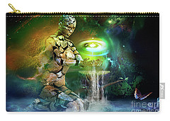 Carry-all Pouch featuring the digital art Earth Life by Shadowlea Is