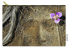 Carry-all Pouch featuring the photograph Earth Memories-desert Flower # 1 by Ed Hall