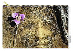 Carry-all Pouch featuring the photograph Earth Memories - Desert Flower # 2 by Ed Hall
