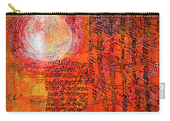 Carry-all Pouch featuring the mixed media Earth Music by Nancy Merkle