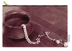 Carry-all Pouch featuring the photograph Earthen Pot And Silver by Mukta Gupta