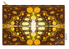Earthly Awareness Abstract Organic Artwork By Omaste Witkowski Carry-all Pouch