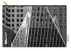 Carry-all Pouch featuring the photograph East 42nd Street, New York City  -17663-bw by John Bald