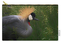 East African Crowned Crane Dp Carry-all Pouch by Ernie Echols