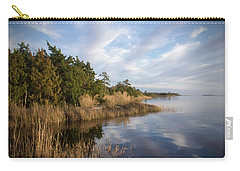 East Bank Looking South At Sunset Carry-all Pouch by Phil Mancuso