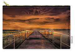 East Lake Pier Topaz Carry-all Pouch