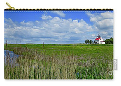 East Point Lighthouse Across The Marsh  Carry-all Pouch by Nancy Patterson
