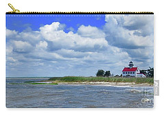 East Point Lighthouse At High Tide Carry-all Pouch by Nancy Patterson