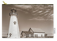 Carry-all Pouch featuring the photograph East Point Lighthouse by Chris Bordeleau