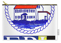 East Point Lighthouse Poster - 2 Carry-all Pouch by Nancy Patterson