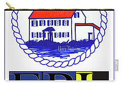 East Point Lighthouse Poster Carry-all Pouch by Nancy Patterson
