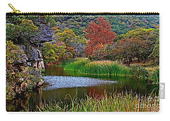 East Trail Pond At Lost Maples Carry-all Pouch
