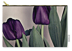 A Display Of Tulips Carry-all Pouch by Sherry Hallemeier