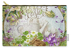Carry-all Pouch featuring the mixed media Easter Breakfast by Mo T