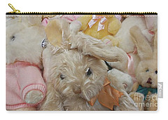 Carry-all Pouch featuring the photograph Easter Bunnies by Benanne Stiens