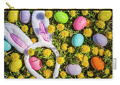 Carry-all Pouch featuring the photograph Easter Bunny Ears by Teri Virbickis