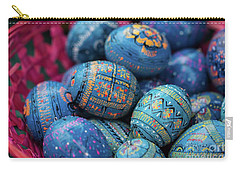 Easter Eggs Carry-all Pouch by Eva Lechner