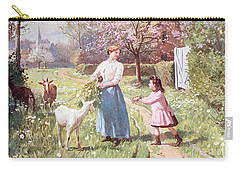 Easter Eggs In The Country Carry-all Pouch by Victor Gabriel Gilbert