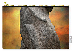 Carry-all Pouch featuring the photograph Easter Island Moai by Adrian Evans