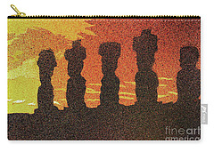 Easter Island Sunset II Carry-all Pouch by Ryan Fox