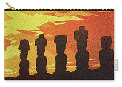 Easter Island Sunset Carry-all Pouch by Ryan Fox