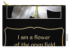 Easter Lily With Song Of Songs Quote Carry-all Pouch