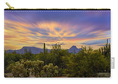 Easter Sunset H18 Carry-all Pouch by Mark Myhaver