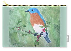 Eastern Bluebird Carry-all Pouch by Joseph Ogle
