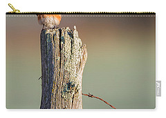 Carry-all Pouch featuring the photograph Eastern Bluebird Portrait by Bill Wakeley