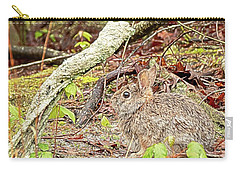 Carry-all Pouch featuring the digital art Eastern Cottontail Rabbit by Kristia Adams