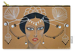 Eastern Elegance -- Whimsical Asian Woman Carry-all Pouch