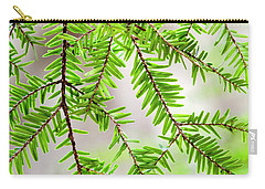 Carry-all Pouch featuring the photograph Eastern Hemlock Tree Abstract by Christina Rollo