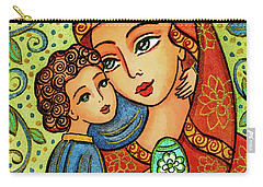 Carry-all Pouch featuring the painting Easter Madonna by Eva Campbell
