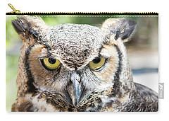 Eastern Screech Owl Portrait Carry-all Pouch
