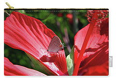 Eastern Tailed Blue Butterfly On Red Flower Carry-all Pouch
