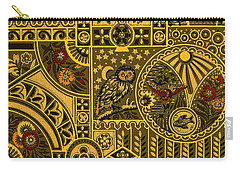 Eastlake Gilt Victorian Tapestry With Owl Carry-all Pouch