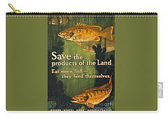 Carry-all Pouch featuring the photograph Eat More Fish Vintage World War I Poster by John Stephens