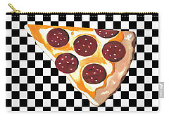 Carry-all Pouch featuring the mixed media Eat Pizza by Kathleen Sartoris