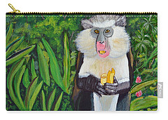Carry-all Pouch featuring the painting Eating A Banana by Laura Forde