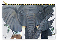 Eavesdropping Elephant Carry-all Pouch by Teresa Wing