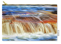 Carry-all Pouch featuring the photograph Ebb And Flow, Noble Falls by Dave Catley