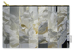 Ebony And Ivory Peony - Floral Abstract Carry-all Pouch