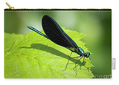 Carry-all Pouch featuring the photograph Ebony Jewelwing by Ricky L Jones