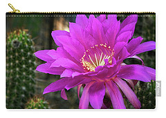 Carry-all Pouch featuring the photograph Echinopsis In Hot Pink  by Saija Lehtonen