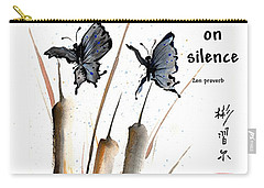 Echo Of Silence With Zen Proverb Carry-all Pouch