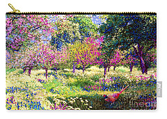 Echoes From Heaven, Spring Orchard Blossom And Pheasant Carry-all Pouch by Jane Small