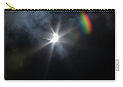 Solar Eclipse 2017 And Rainbow Carry-all Pouch
