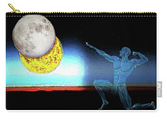 Carry-all Pouch featuring the digital art Eclipse 2017 by John Haldane