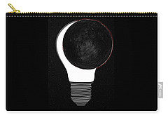 Carry-all Pouch featuring the drawing Eclipse by John Haldane