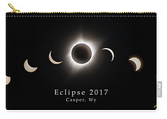 Carry-all Pouch featuring the photograph Solar Eclipse Collage 1 by Rikk Flohr